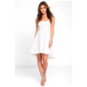 Lulu's • course of action ivory high low dress